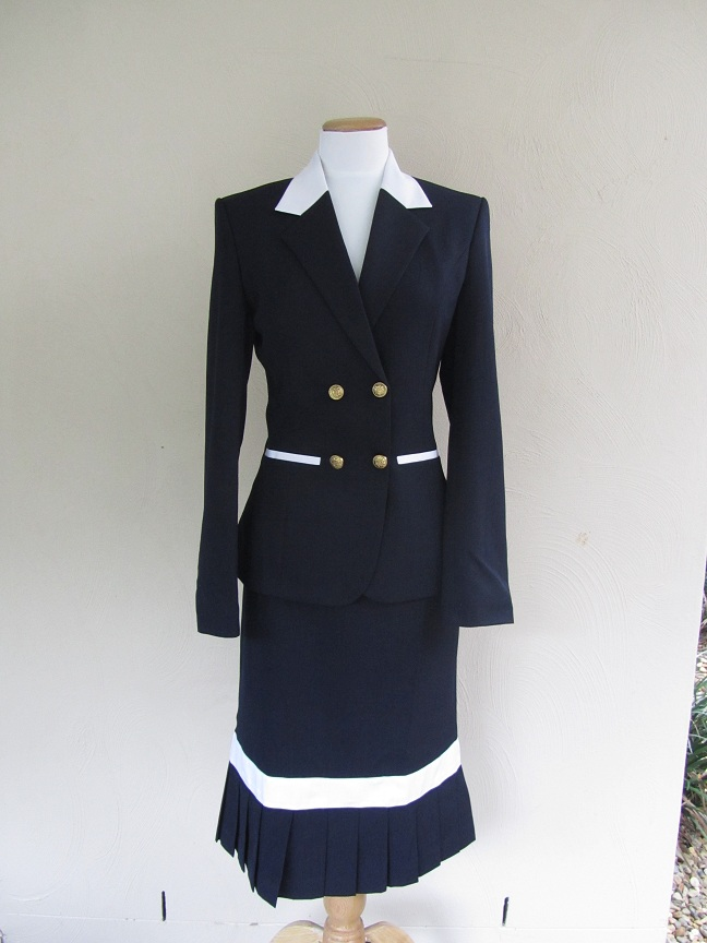 Navy And White Double Cross Over In Hand Outfit Nvs