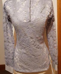 Grey lace longsleeve