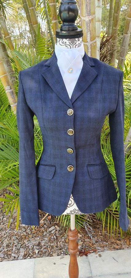 navy tweed show jacket ladies size 10 - NVS Equine Attire